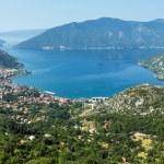 Kotor town on coast  (Montenegro, Bay of Kotor) — Stock Photo #22762182