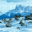 Beautiful winter mountain landscape. — Foto Stock
