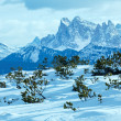 Beautiful winter mountain landscape. — Foto de Stock