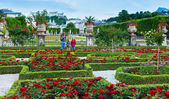 Family in the summer garden (Salzburg, Austria) — Foto Stock
