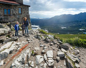 Family in summer Tatra Mountain, Poland — Stock Photo