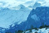 Krásné zimní horské krajiny. — Stock fotografie