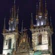Stock Photo: The Church of Our Lady before Tyn (Prague, Czech Republic). Nigh