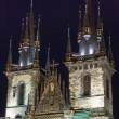 The Church of Our Lady before Tyn (Prague, Czech Republic). Nigh — Stock Photo #23208060