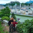 Summer Salzburg City view from up (Austria) — Stock Photo