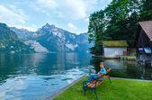 Traunsee summer lake (Austria). — Zdjęcie stockowe