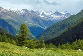 Summer mountain cloudy landscape (Switzerland) — Stock Photo