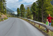 View to Gepatsch-Stausee lake (Austria) — Stock Photo