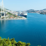 Summer coast view of Dubrovnik City (Croatia) — Stock Photo