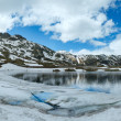 Alps mountain lake (spring panorama). — Stock Photo #25329897