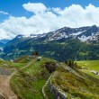 Stock Photo: Summer Alps mountain pass panorama.