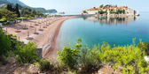 Sveti Stefan sea islet (Montenegro). Summer panorama. — Stock Photo