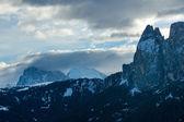 Predawn morning winter mountain landscape (Italy) — Stock Photo