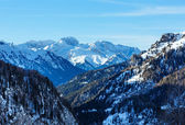 Winter view on Marmolada mountain , Italy. — Stock Photo