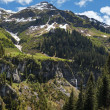 Alpine mountain view (Vorarlberg,Austria) — Stock Photo