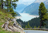 View to Gepatsch-Stausee lake (Austria) — Stock Photo