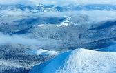 Paysage de montagne hiver matin — Photo