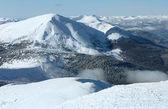 Morning winter mountain landscape — Стоковое фото