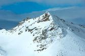 Morning winter ski resort Molltaler Gletscher (Austria). — Stock Photo