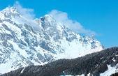 зимний горный пейзаж — Стоковое фото