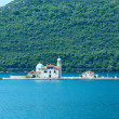 Artificial island with a church on it (Perast, Montenegro, Kotor — Stock Photo