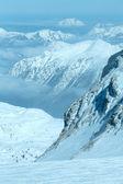 Vintern dachstein bergmassivet — Stockfoto