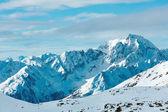 Morning winter ski resort Molltaler Gletscher (Austria). — Stock fotografie