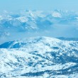 Stock Photo: Winter Dachstein mountain massif panorama