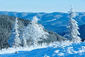 Ranní zimní horské krajiny — Stock fotografie
