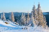 Východ slunce zimní horské krajiny — Stock fotografie