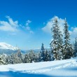 Winter mountain panorama. — Stock Photo