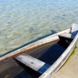 Boat on summer lake bank — Stock Photo #33770345