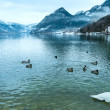 Alpine winter lake view — Stock Photo
