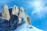 Beautiful winter mountain sunshine landscape. — Stock Photo