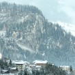Stock Photo: Winter mountain village (Austria, Tirol).
