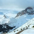 Overcast winter mountain landscape. — Stock Photo
