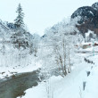 Winter mountain river — Foto Stock