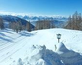 Winter Dachstein mountain massif — Stock Photo