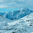 Stock Photo: Morning winter ski resort Molltaler Gletscher (Austria).