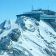Winter Dachstein mountain view and upper station cable car — Foto Stock