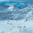Morning winter ski resort Molltaler Gletscher (Austria). — Stock Photo
