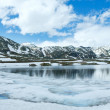 Spring Alps mountain lake panorama  (Switzerland) — Stock Photo