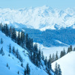 Cloudy winter mountain landscape — Stock Photo