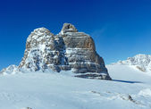 Winter Dachstein mountain massif — Stock Photo