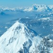 Winter Dachstein mountain massif panorama. — Stock Photo