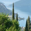 Kotor town on coast (Montenegro, Bay of Kotor) — Stock Photo