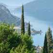 Kotor town on coast (Montenegro, Bay of Kotor) — Stock Photo #35899005