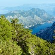Bay of Kotor summer misty view from up  (Montenegro) — Stock Photo
