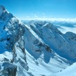 Stock Photo: Winter Dachstein mountain massif panorama.