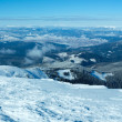 Morning winter mountain panorama (Carpathian, Ukraine). — Stock Photo